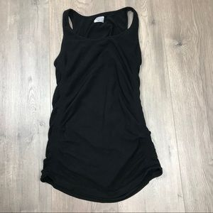 Athleta Black Ruched Athletic Tank Top Small